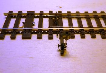 Weichenantrieb eingebaut